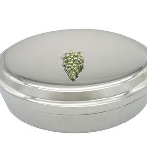 Viticulture Grape Pendant Oval Trinket Jewelry Box